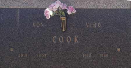 COOK, VIRG - Washington County, Oklahoma   VIRG COOK - Oklahoma Gravestone Photos