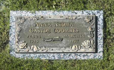 COOMBES, ANNA NEOMA CASTOE - Washington County, Oklahoma   ANNA NEOMA CASTOE COOMBES - Oklahoma Gravestone Photos