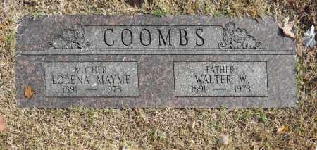 COOMBS, WALTER W - Washington County, Oklahoma | WALTER W COOMBS - Oklahoma Gravestone Photos