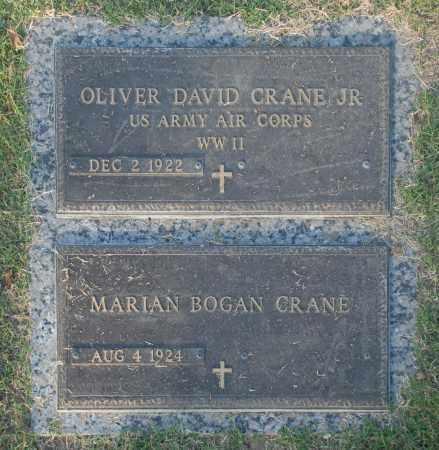 CRANE, OLIVER DAVID JR. - Washington County, Oklahoma   OLIVER DAVID JR. CRANE - Oklahoma Gravestone Photos