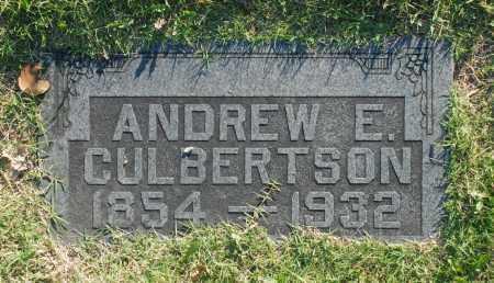 CULBERTSON, ANDREW E. - Washington County, Oklahoma | ANDREW E. CULBERTSON - Oklahoma Gravestone Photos