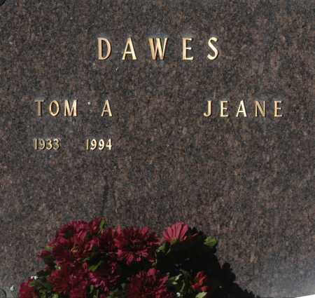 DAWES, JEANE - Washington County, Oklahoma | JEANE DAWES - Oklahoma Gravestone Photos