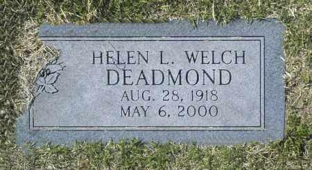 DEADMOND, HELEN L WELCH - Washington County, Oklahoma | HELEN L WELCH DEADMOND - Oklahoma Gravestone Photos