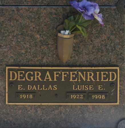 DEGRAFFENRIED, E DALLAS - Washington County, Oklahoma   E DALLAS DEGRAFFENRIED - Oklahoma Gravestone Photos