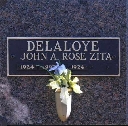 DELALOLYE, ROSE ZITA - Washington County, Oklahoma | ROSE ZITA DELALOLYE - Oklahoma Gravestone Photos