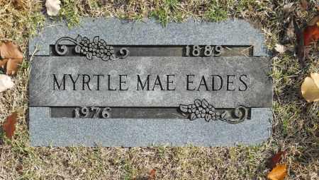EADES, MYRTLE MAE - Washington County, Oklahoma   MYRTLE MAE EADES - Oklahoma Gravestone Photos
