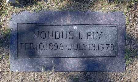 ELY, NONDUS I - Washington County, Oklahoma | NONDUS I ELY - Oklahoma Gravestone Photos