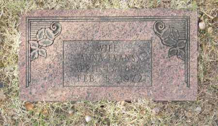 EVANS, ANNA - Washington County, Oklahoma   ANNA EVANS - Oklahoma Gravestone Photos
