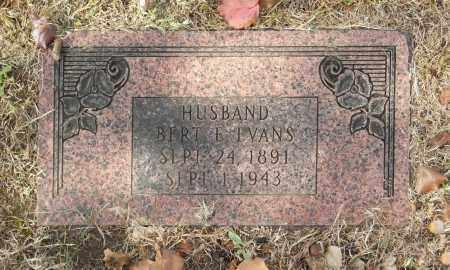EVANS, BERT E - Washington County, Oklahoma   BERT E EVANS - Oklahoma Gravestone Photos