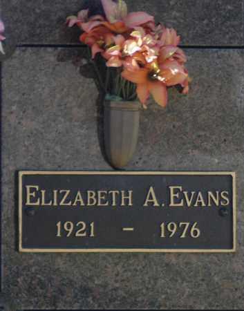 EVANS, ELIZABETH A - Washington County, Oklahoma | ELIZABETH A EVANS - Oklahoma Gravestone Photos