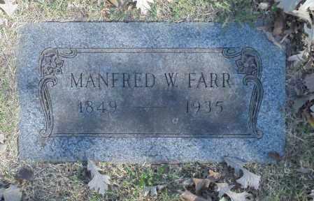 FARR, MANFRED W - Washington County, Oklahoma   MANFRED W FARR - Oklahoma Gravestone Photos