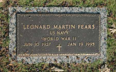 FEARS, LEONARD MARTIN - Washington County, Oklahoma | LEONARD MARTIN FEARS - Oklahoma Gravestone Photos