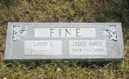 FINE, JESSIE OAKLE - Washington County, Oklahoma | JESSIE OAKLE FINE - Oklahoma Gravestone Photos