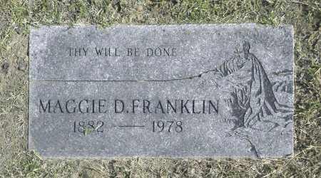 FRANKLIN, MAGGIE D - Washington County, Oklahoma   MAGGIE D FRANKLIN - Oklahoma Gravestone Photos