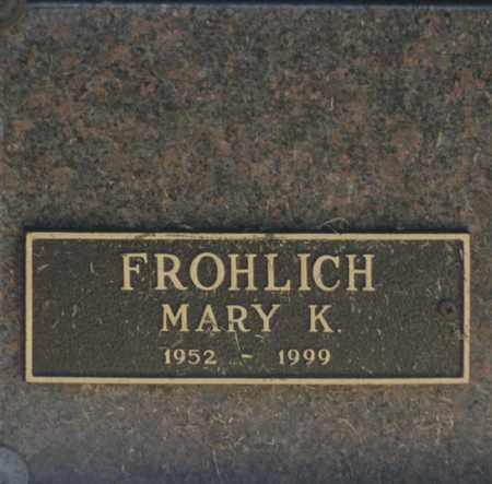 FROHLICH, MARY K - Washington County, Oklahoma   MARY K FROHLICH - Oklahoma Gravestone Photos