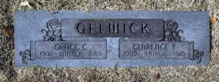 GELWICK, CLARENCE E - Washington County, Oklahoma | CLARENCE E GELWICK - Oklahoma Gravestone Photos