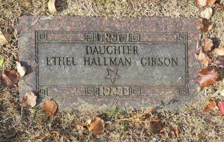 GIBSON, ETHEL HALLMAN - Washington County, Oklahoma   ETHEL HALLMAN GIBSON - Oklahoma Gravestone Photos