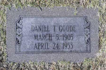 GOODE, DANEIL T - Washington County, Oklahoma   DANEIL T GOODE - Oklahoma Gravestone Photos