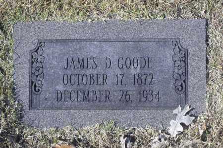 GOODE, JAMES D - Washington County, Oklahoma | JAMES D GOODE - Oklahoma Gravestone Photos