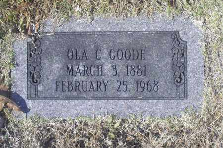 GOODE, OLA C - Washington County, Oklahoma   OLA C GOODE - Oklahoma Gravestone Photos