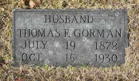 GORMAN, THOMAS F - Washington County, Oklahoma | THOMAS F GORMAN - Oklahoma Gravestone Photos