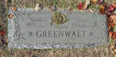 GREENWALT, BERTHA E - Washington County, Oklahoma | BERTHA E GREENWALT - Oklahoma Gravestone Photos