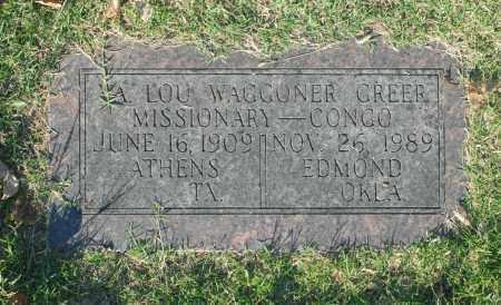 GREER, LOU - Washington County, Oklahoma | LOU GREER - Oklahoma Gravestone Photos