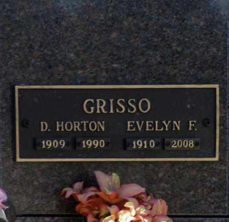GRISSO, D HORTON - Washington County, Oklahoma   D HORTON GRISSO - Oklahoma Gravestone Photos