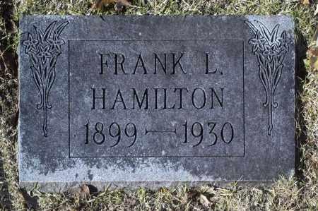 HAMILTON, FRANK L - Washington County, Oklahoma | FRANK L HAMILTON - Oklahoma Gravestone Photos