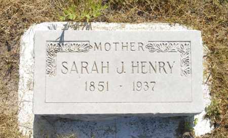 HENRY, SARAH J. - Washington County, Oklahoma | SARAH J. HENRY - Oklahoma Gravestone Photos