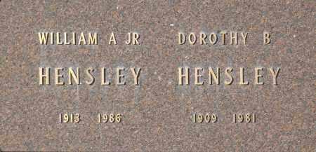 HENSLEY, DOROTHY B - Washington County, Oklahoma | DOROTHY B HENSLEY - Oklahoma Gravestone Photos