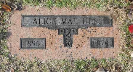 HESS, ALICE MAE - Washington County, Oklahoma   ALICE MAE HESS - Oklahoma Gravestone Photos
