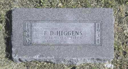 HIGGENS, E D - Washington County, Oklahoma | E D HIGGENS - Oklahoma Gravestone Photos