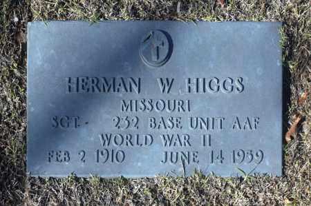 HIGGS (VETERAN WWII), HERMAN W - Washington County, Oklahoma   HERMAN W HIGGS (VETERAN WWII) - Oklahoma Gravestone Photos
