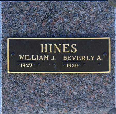 HINES, WILLIAM J - Washington County, Oklahoma   WILLIAM J HINES - Oklahoma Gravestone Photos