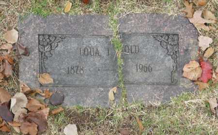 HOLD, LOUA I - Washington County, Oklahoma   LOUA I HOLD - Oklahoma Gravestone Photos