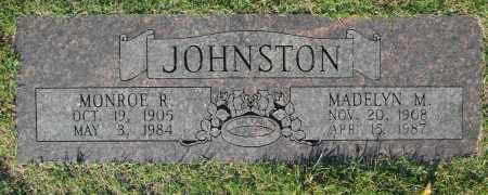 JOHNSTON, MONROE R. - Washington County, Oklahoma | MONROE R. JOHNSTON - Oklahoma Gravestone Photos