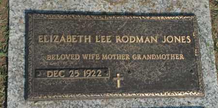 JONES, ELIZABETH LEE - Washington County, Oklahoma | ELIZABETH LEE JONES - Oklahoma Gravestone Photos