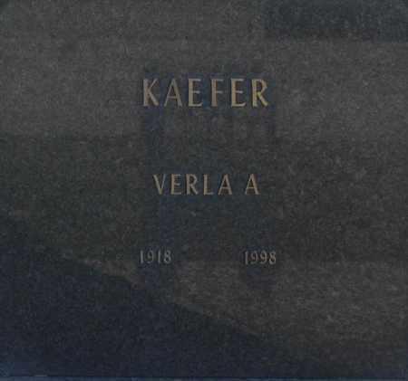 KAEFER, VERLA A - Washington County, Oklahoma | VERLA A KAEFER - Oklahoma Gravestone Photos