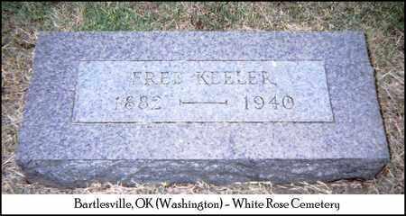 KEELER, FREDERICK - Washington County, Oklahoma | FREDERICK KEELER - Oklahoma Gravestone Photos