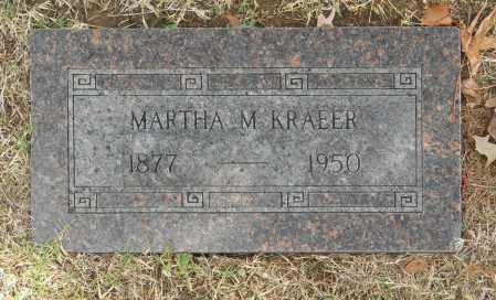 KRAEER, MARTHA M - Washington County, Oklahoma   MARTHA M KRAEER - Oklahoma Gravestone Photos