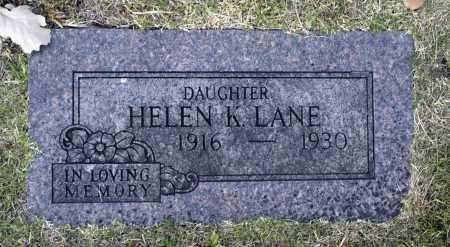 LANE, HELEN K - Washington County, Oklahoma   HELEN K LANE - Oklahoma Gravestone Photos