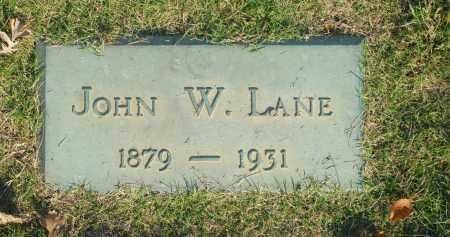 LANE, JOHN W. - Washington County, Oklahoma | JOHN W. LANE - Oklahoma Gravestone Photos
