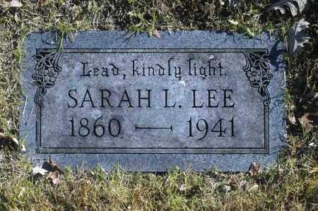 LEE, SARAH L - Washington County, Oklahoma   SARAH L LEE - Oklahoma Gravestone Photos