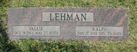 LEHMAN, RALPH - Washington County, Oklahoma   RALPH LEHMAN - Oklahoma Gravestone Photos
