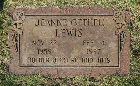 BETHEL LEWIS, JEANNE - Washington County, Oklahoma | JEANNE BETHEL LEWIS - Oklahoma Gravestone Photos