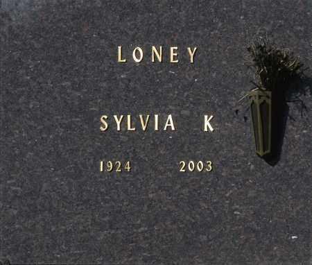 LONEY, SYLVIA K - Washington County, Oklahoma | SYLVIA K LONEY - Oklahoma Gravestone Photos