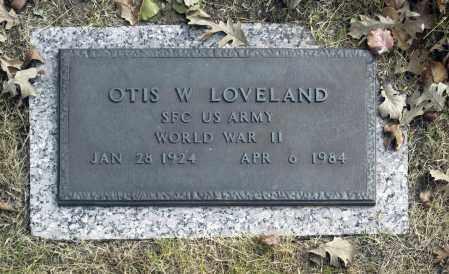 LOVELAND (VETERAN WWII), OTIS W - Washington County, Oklahoma   OTIS W LOVELAND (VETERAN WWII) - Oklahoma Gravestone Photos