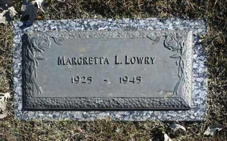 LOWRY, MARGRETTA L - Washington County, Oklahoma   MARGRETTA L LOWRY - Oklahoma Gravestone Photos
