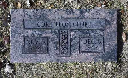 LUKE, CORE FLOYD - Washington County, Oklahoma   CORE FLOYD LUKE - Oklahoma Gravestone Photos
